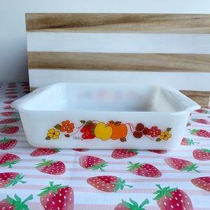 """Vintage Hildi Boho Floral Fruit Baking Dish 8"""""""